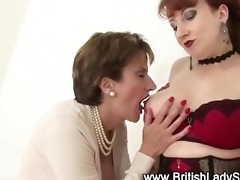 older hotties lady sonia and red licking and