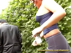 pickup busty redhead german for group-sex in