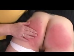 femdom-goddess granny spanks beauty over her knee