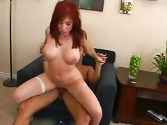 superb breasty redhead mother i gets her love