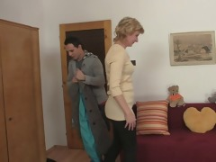 youthful lad picks up old blonde and bonks her