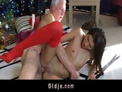 grey oldman acquires a real doll to fuck for