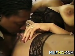 ebony mother getting her snatch drilled