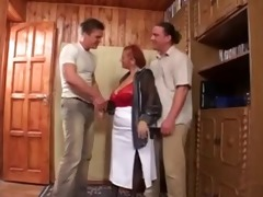 granny and young men - 4