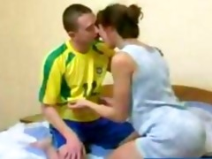 redhead russian older mother acquires fucked by